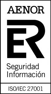 AENOR ISO/IEC 27001; cert nº: SI-0063/2019